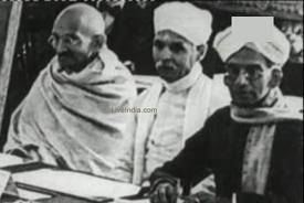 madan mohan malviya with mahatma gandhi